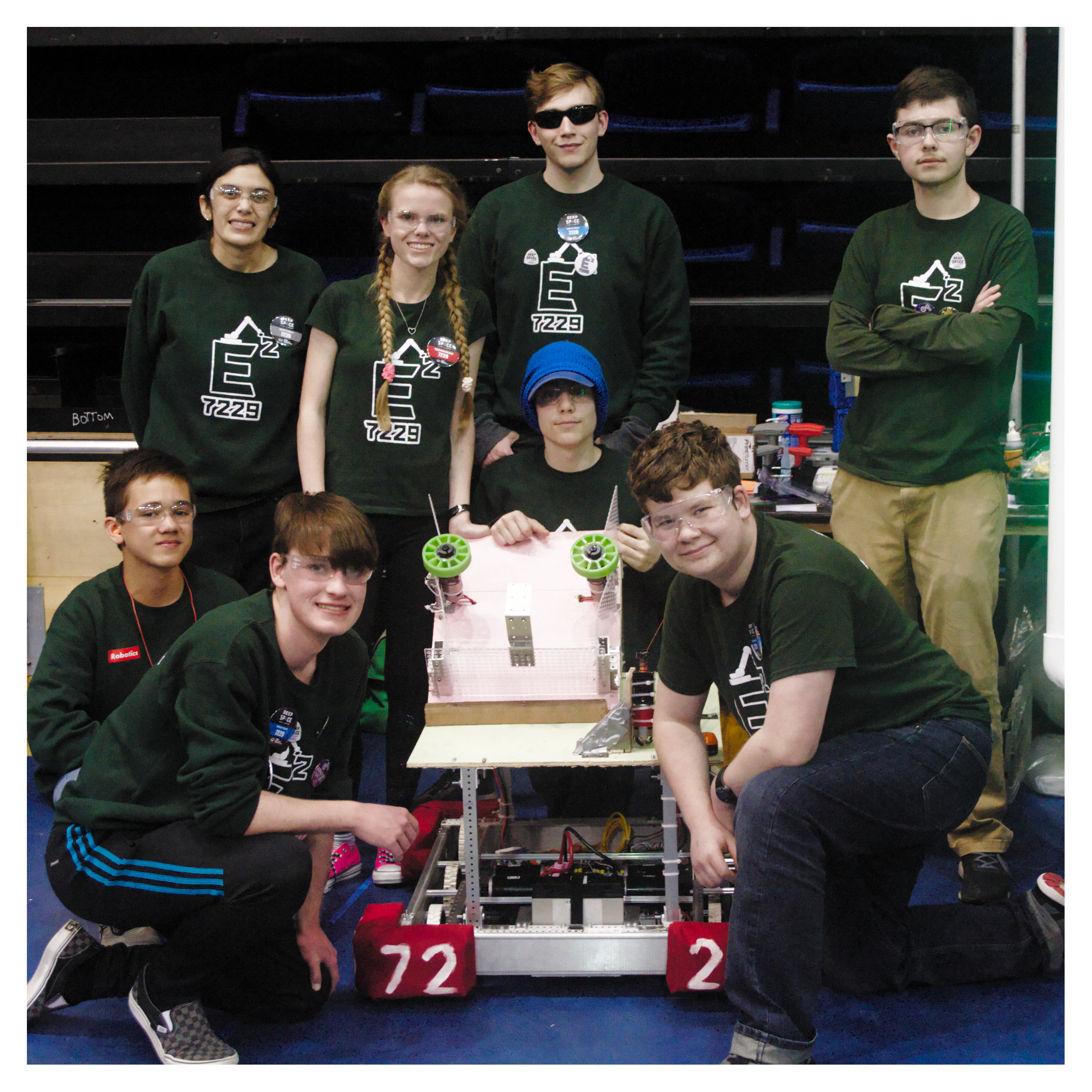 The ECHS Robotics team competed at UC Davis. They built a robot in six weeks